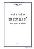 Bài tập Toán: Khảo sát hàm số
