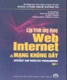 Lập trình ứng dụng Web Internet và mạng không dây