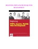 BEGINNING PHP5.APACHE.MYSQL WEB DEVELOPMENT