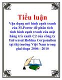 Tiểu luận: Vận dụng mô hình cạnh tranh của M.Porter để phân tích tình hình cạnh tranh của mặt hàng trà xanh C2 của công ty Universal Robina Corporation tại thị trường Việt Nam trong giai đoạn 2006 - 2010