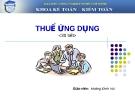 Thuế ứng dụng - GV Hoàng Đình Vui