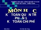Kế toán chi phí - TS Trần Văn Tùng