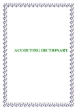 ACCOUTING DICTIONARY