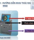 Hướng dẫn khai thác radar jma 9900