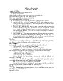 Một số đề thi mẫu tốt nghiệp môn kế toán