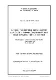 Luận văn Thạc Sĩ: Dạy học Thơ trữ tình trung đại Việt Nam ở lớp 11 theo hướng tích cực hóa hoạt động học tập của học sinh - Nguyễn Thị Phương Thảo