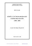 Luận văn: SỞ HỮU VÀ SỬ DỤNG RUỘNG ĐẤT Ở TỈNH THÁI NGUYÊN (1988 - 2005)