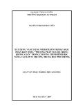 Luận văn Thạc Sĩ: Xây dựng và sử dụng Website hỗ trợ dạy học phần kiến thức phương pháp tọa độ trong không gian trong chương trình Hình học nâng cao lớp 12 trường trung học phổ thông - Nguyễn Thị Thanh Tuyên