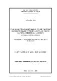 Luận văn: ỨNG DỤNG CÔNG NGHỆ THÔNG TIN ĐỂ THIẾT KẾ BÀI GIẢNG ĐỊA LÍ TỰ NHIÊN VIỆT NAM TRONG SÁCH GIÁO KHOA ĐỊA LÍ 8 THCS