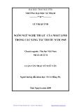 Luận văn Thạc sĩ Ngữ văn: Ngôn ngữ nghệ thuật của Nhất Linh trong các sáng tác trước năm 1945