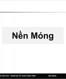Bài giảng nền móng - Nguyễn Hữu Thái