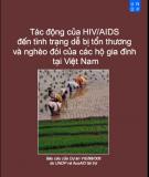 Tác động HIV / AIDS đến tình trạng dễ bị tổn thương và nghèo đói của các hộ gia đình tại Việt Nam
