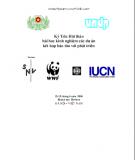 Kỷ yếu hội thảo bài học kinh nghiệm các dự án kết hợp bảo tồn với phát triển