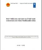 Phát triển khu vực dịch vụ ở Việt Nam: chìa khóa cho tăng trưởng bền vững