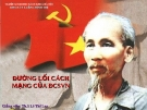 Bài giảng đường lối Cách Mạng Đảng cộng sản Việt Nam: Quan điểm chỉ đạo về xây dựng và phát triển nền văn hóa của ĐCSVN trong giai đoạn hiện nay