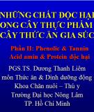 Phenolic & tannin acid amin & protein độc hại