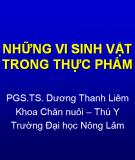 Những vi sinh vật trong thực phẩm - PGS.TS. Dương Thanh Liêm