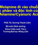 Melamine đi vào chuỗi  thực phẩm và độc tính của nó
