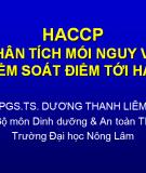 Haccp phân tích mối nguy và kiểm soát điểm tới hạn