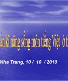 Tập huấn kĩ năng sống môn tiếng Việt  ở tiểu học