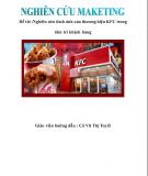 Nghiên cứu hình ảnh của thương hiệu KFC trong tâm trí khách hàng