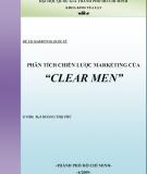 """Phân tích chiến lược marketing của """" Clear men"""""""