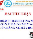 Kế hoạch marketing mix cho sản phẩm xe máy Wave rsx của hãng xe máy honda