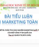 Phân tích kinh nghiệm marketing quốc tế của một công ty đa quốc gia
