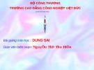 Bài giảng Dung Sai - CĐ Công Việt Đức