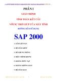 Giáo trình : Tính toán kết cấu với sự trợ giúp của máy tính_ Hướng dẫn sử dụng SAP 2000