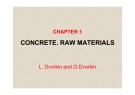 CONCRETE. RAW MATERIALS