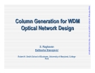 Column Generation for WDM Optical Network Design