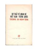 Sự thật về quan hệ Việt Trung trong 30 năm qua - Nxb. Sự thật