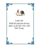 Thiết kế canô kéo dù bay phục vụ du lịch  trên vịnh Nha Trang.