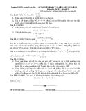 Đề thi thử đại học cao đẳng năm 2012 môn thi toán khối D
