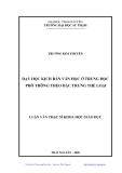 Luận văn Thạc Sĩ: Dạy học Kịch bản Văn học ở trung học phổ thông theo đặc trưng thể loại - Trương Kim Thuyên