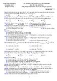 ĐỀ THI KHẢO SÁT ĐẠI HỌC LẦN 4 NĂM HỌC 2008-2009 MÔN VẬT LÝ LỚP 12 (KHỐI A) - Mã đề 557