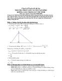 Chuyên đề luyện thi đại học phương pháp giải các bài tập hình học không gian trong kì thi TSĐH