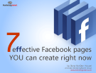 7 effective Facebook pages you can create right now