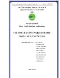 Báo cáo chuyên đề: Vai trò của Công nghệ sinh học trong xử lý nước thải