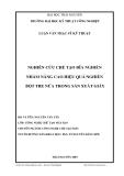 Luận văn: NGHIÊN CỨU CHẾ TẠO ĐĨA NGHIỀN NHẰM NÂNG CAO HIỆU QUẢ NGHIỀN BỘT TRE NỨA TRONG SẢN XUẤT GIẤY
