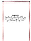 Luận văn Nghiên cứu mòn và tuổi bền của dao phay lăn răng đĩa xích thép gió sản xuất tại Việt Nam