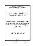 Luận văn: NGHIÊN CỨU CHẾ TẠO PHỤC HỒI GẦU CÔNG DỤNG CHUNG CỦA MÁY XÚC KOMATSU PC220 NHẰM NÂNG CAO CHẤT LƢỢNG VÀ HIỆU QUẢ KINH TẾ