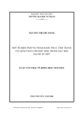Luận văn: MỘT SỐ BIỆN PHÁP SƯ PHẠM KHẮC PHỤC TÌNH TRẠNG YẾU KÉM TOÁN CHO HỌC SINH TRONG DẠY HỌC ĐẠI SỐ 10 THPT