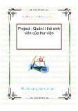 ĐỒ ÁN TỐT NGHIỆP - Quản lí thẻ sinh viên của thư viện