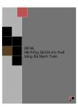 ĐỒ ÁN TỐT NGHIỆP -  Hệ thống Quản Lý Cửa Hàng cho thuê băng đĩa Mạnh Toàn
