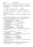 Bai tập Lý 12: Dao động cơ học