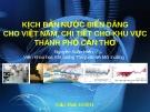 Kịch bản nước biển dâng cho Việt Nam,chi tiết cho khu vực Cần Thơ