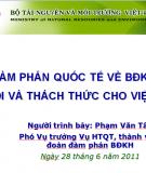 Hội thảo quốc tế về biến đổi khí hậu cơ hội và thách thức cho Việt Nam