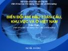 Biển đổi khí hậu toàn cầu khu vực và ở Việt Nam